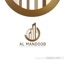 تصميم شعار المندوب للعقارات